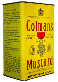Packaging Mostarda Colman