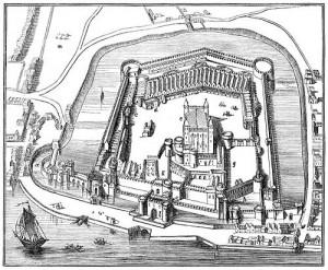 Storia della torre di Londra - antica stampa